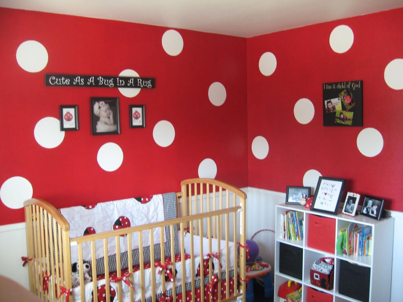 Createjoy2day lady bug themed nursery for Bug themed bedroom ideas