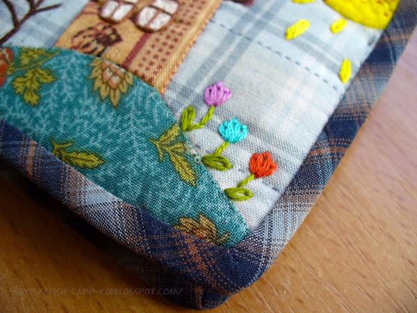 Японский печворк - игольница для бабушки