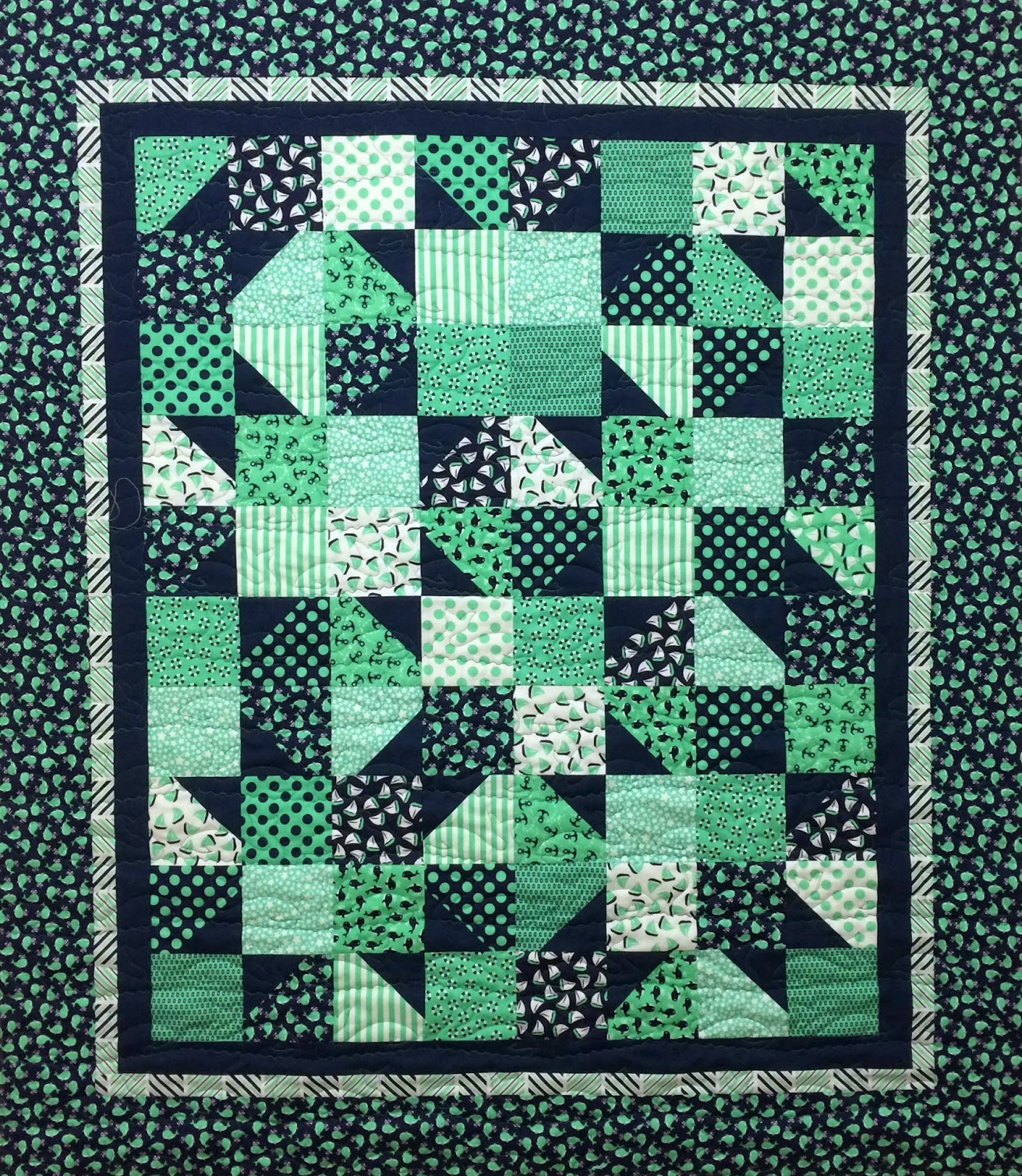 Debra Taylor Baby Quilt with Whales