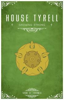 emblema casa Tyrell - Juego de Tronos en los siete reinos