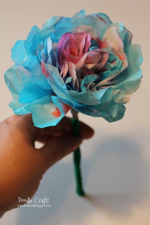 doodlecraft  coffee filter flower tutorial