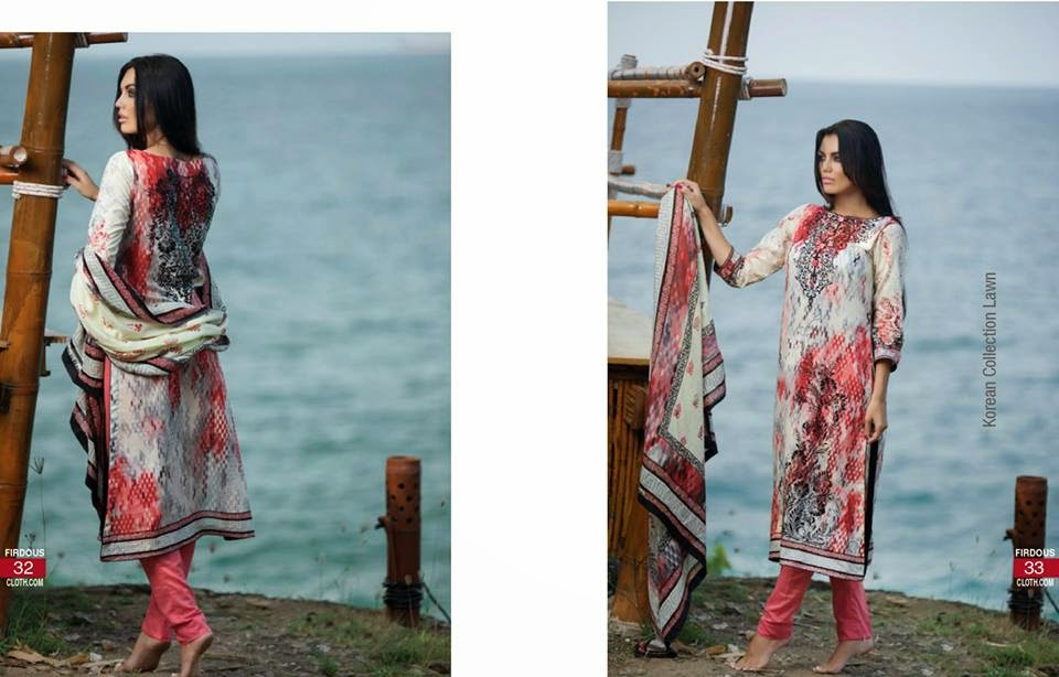 Firdous latest lawn 2015 collection for girls