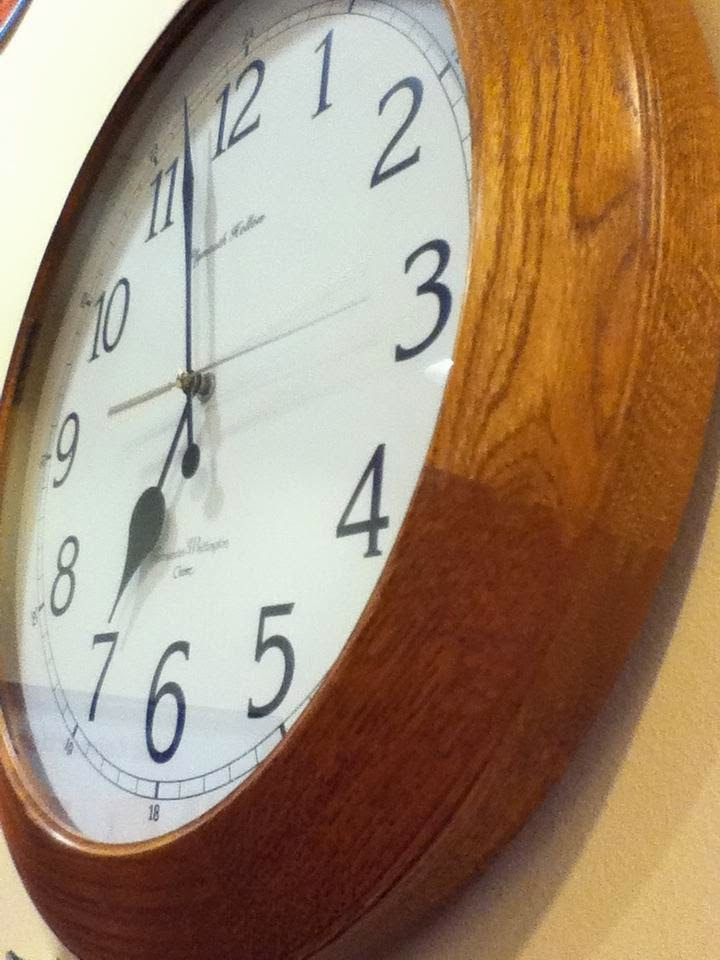 Picture of clock hanging on wall