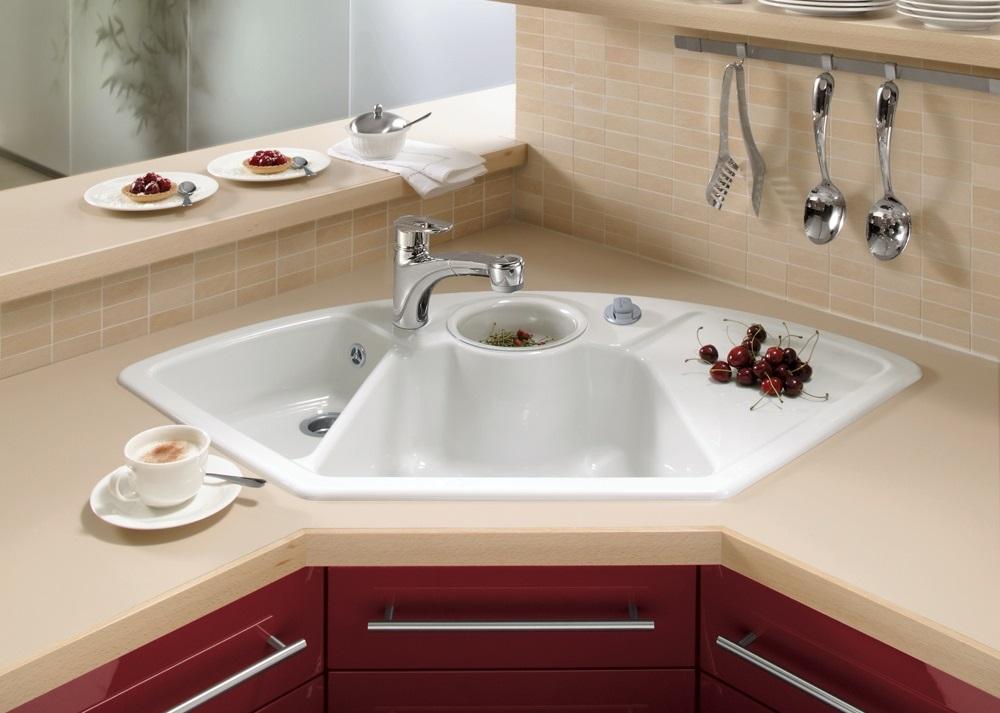 Advantages and disadvantages of corner kitchen sinks | Czytamwwannie\'s