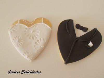 Galletas boda fondant