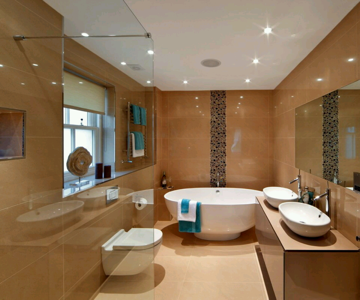 New home designs latest luxury modern bathrooms designs for Home restroom design