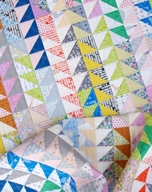 Carkai Half Square Triangle Quilt | Red Pepper Quilts 2015