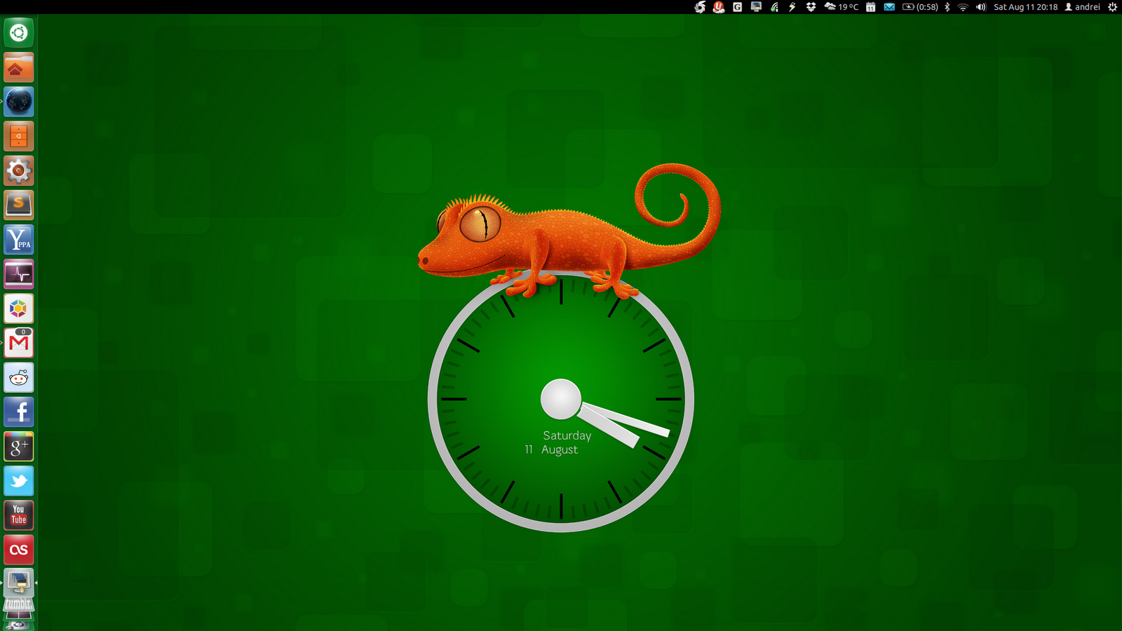Use Wallpaper Clocks Live Earth In Ubuntu With Slidewall