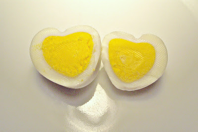 Heart Shaped Hard Boiled Eggs