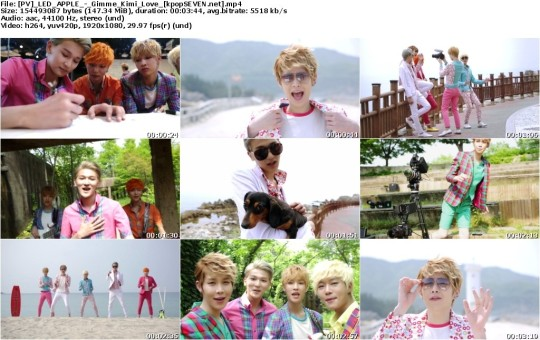 [PV] LED APPLE – Gimme Kimi Love [HD 1080p Youtube]
