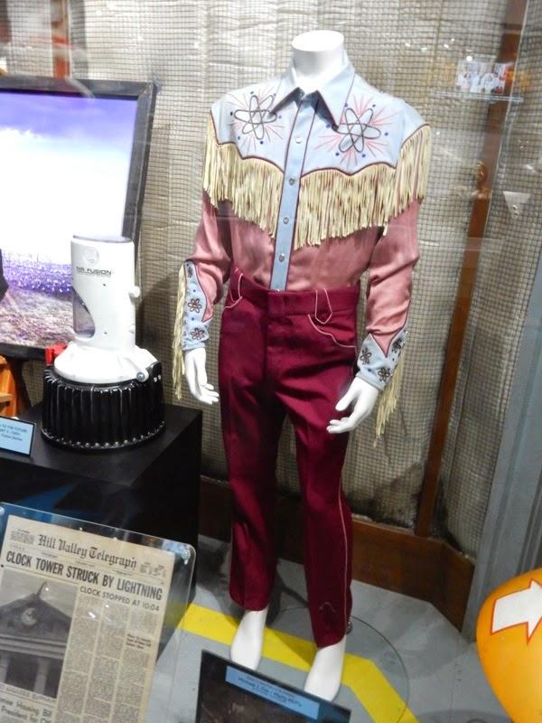 Michael J Fox Back to the Future 3 film costume
