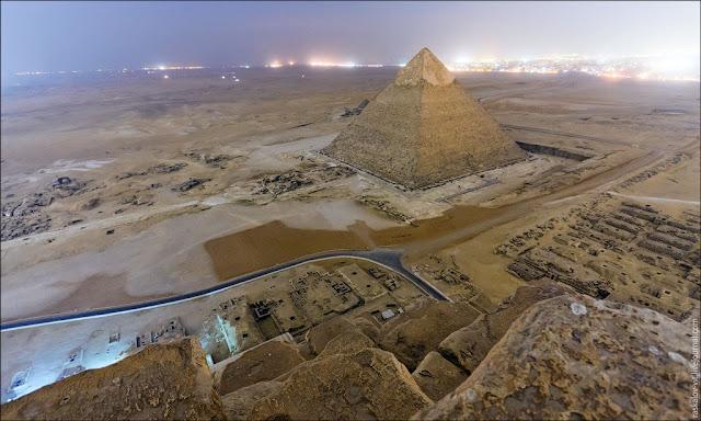 Fotografias desde la cima de la pirámide