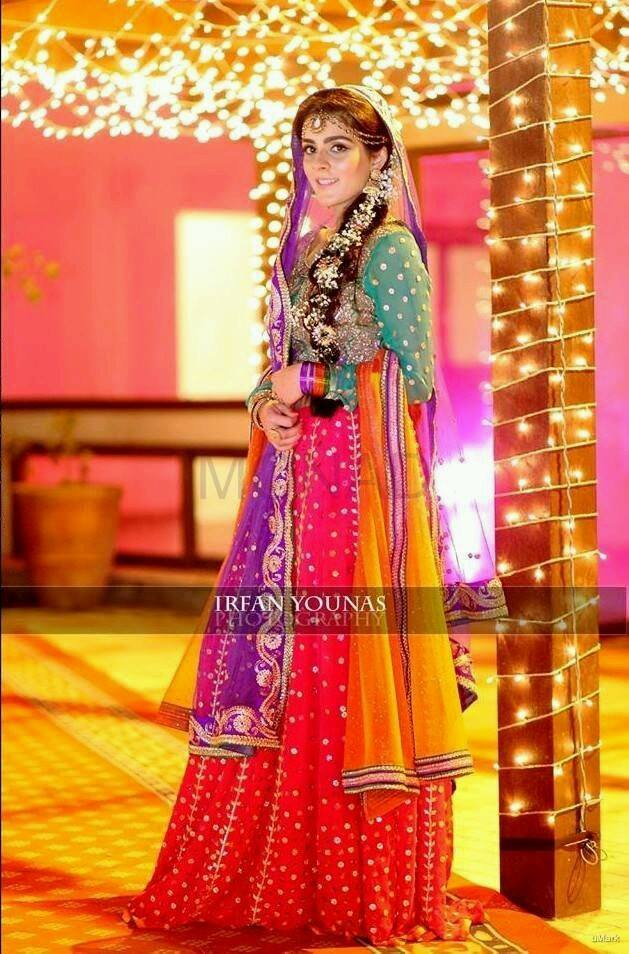 Mehndi Bride Outfit : Mehndi dresses pakistani