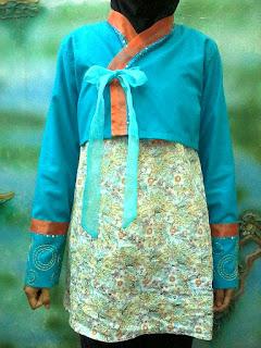 dress blouse berbentuk hanbok