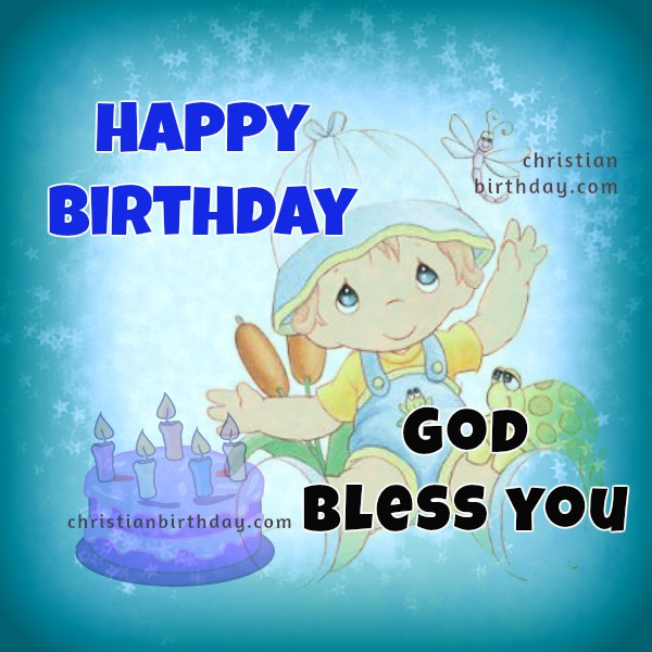 Happy Birthday Card God bless you – Birthday Card for Child