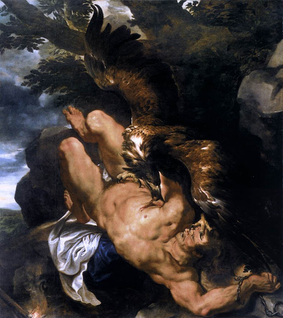 Peter Paul Rubens,Prometheus Bound, Baroque painting