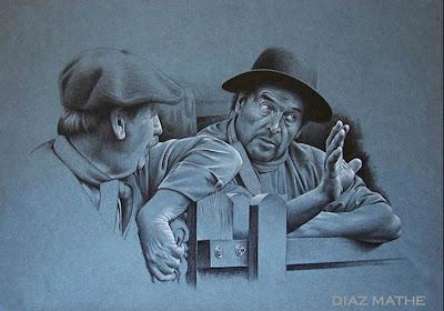 'El Zorro Aguirre', obra del artista argentino Esteban Díaz Mathe, tomada de http://www.diazmathe.com/