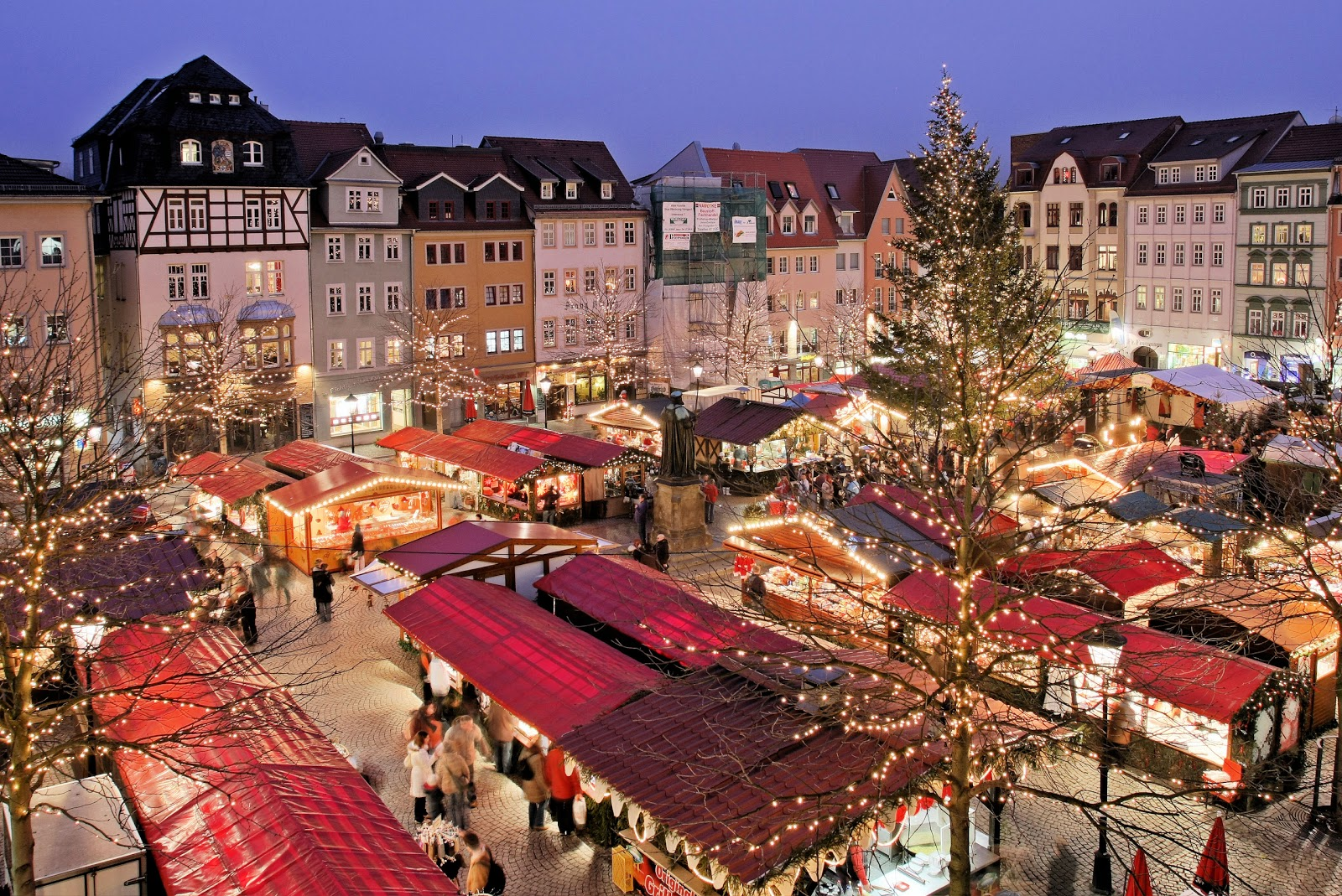 The Jena Christkindlmarkt Or Christmas Market In Germany
