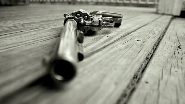 revolvers grayscale monochrome handguns HD Wallpaper