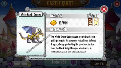 imagen del white knight dragon