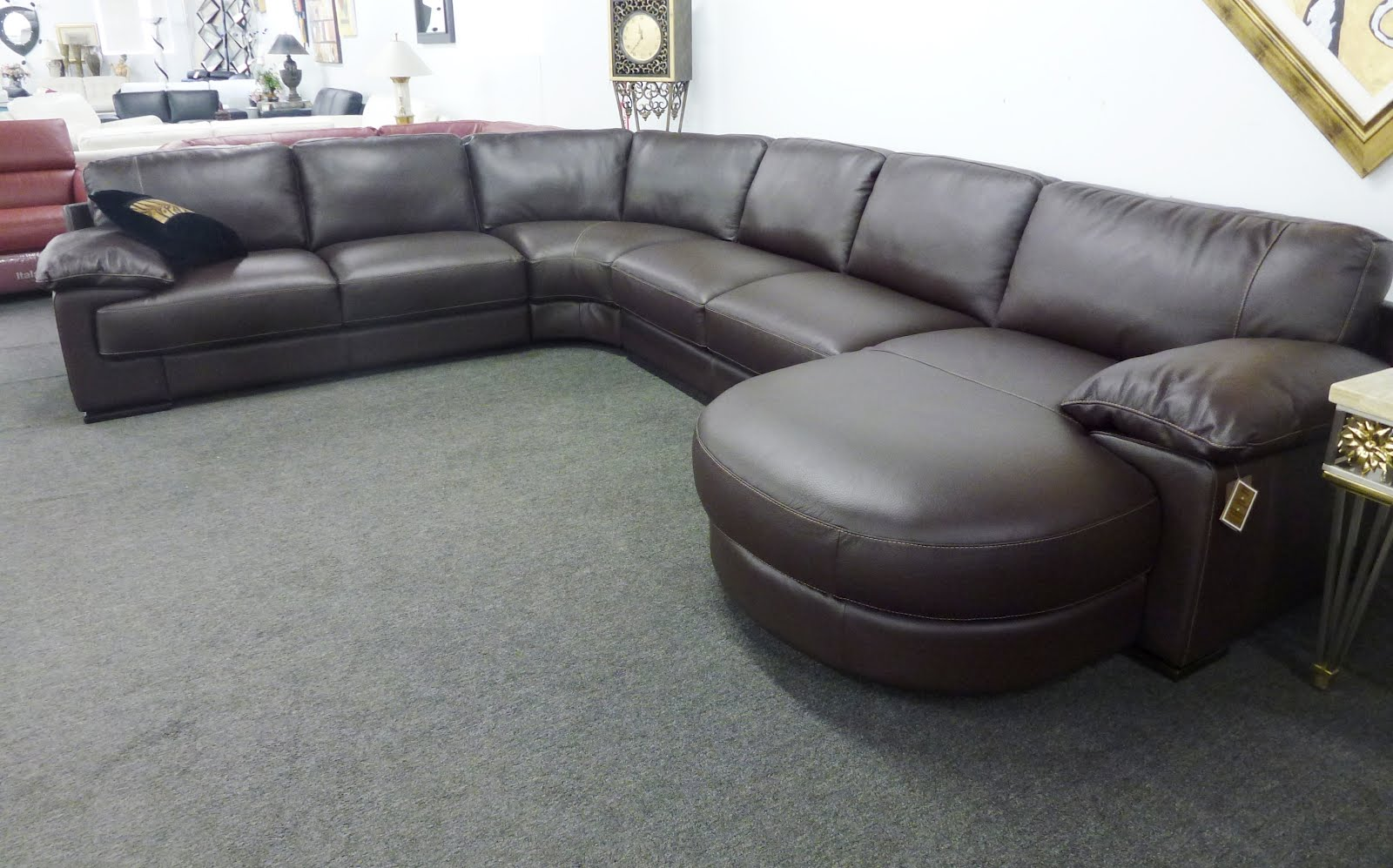 Natuzzi Leather Sofas Sectionals By Interior Concepts Furniture Natuzzi Leather Sectional