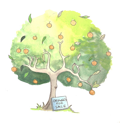illustration of orange tree