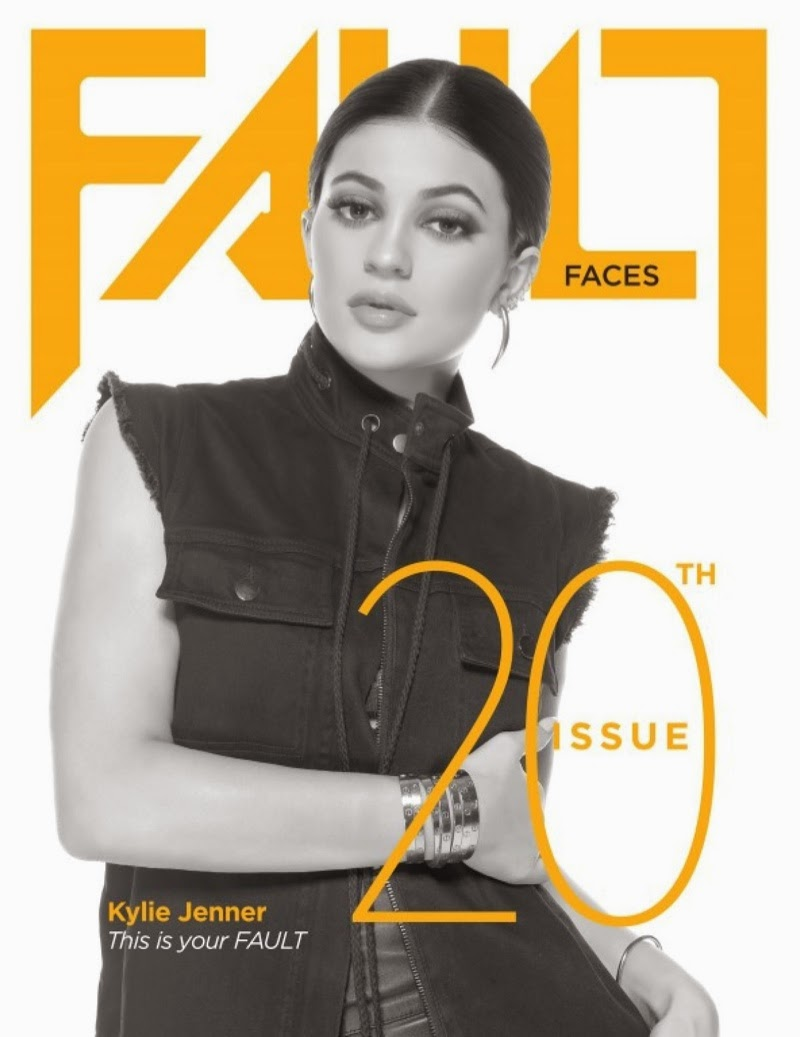 Kylie Jenner poses as the cover girl of Fault Magazine's 20th issue