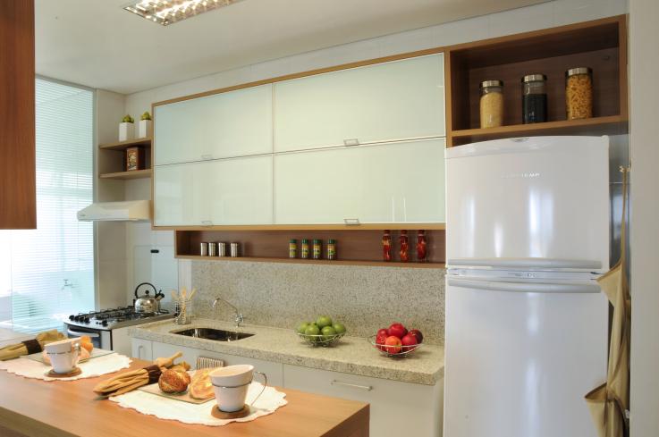 decoracao na cozinha:Para decorar, invista em detalhes como pastilhas, combinação de