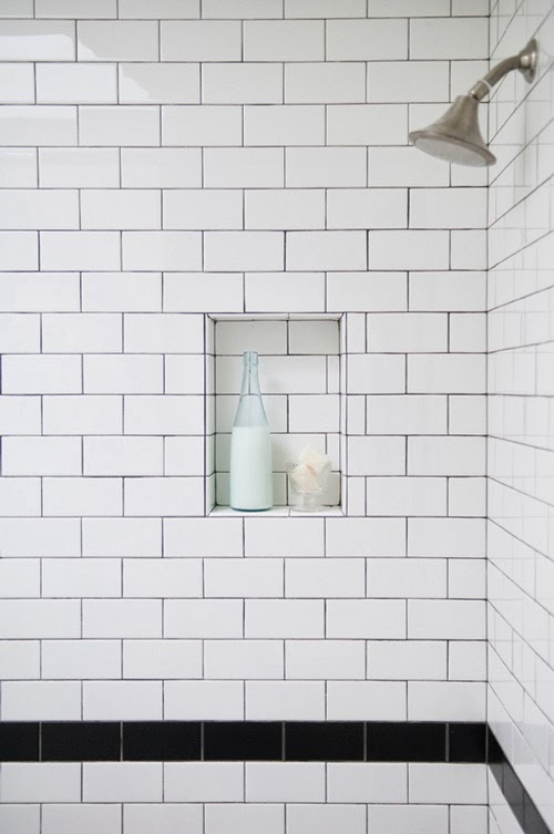 I Was Looking Over One Of My Past Posts Where Compared White Subway Tiles With Matching Grout To Dark And Realized That Didn T