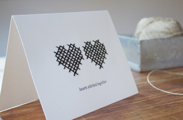Be DifferentAct Normal Hearts Stitched Together Valentine Card – Different Valentines Cards