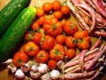 Pomodori aglio cetrioli e borlotti