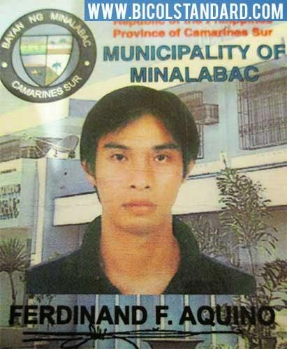Missing LGU Minalabac Engr. Ferdinand Aquino