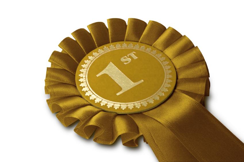 winner gold ribbon