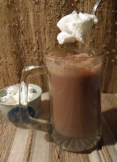 Cuppa Hot Cocoa Toddy with Spoonful of Cream