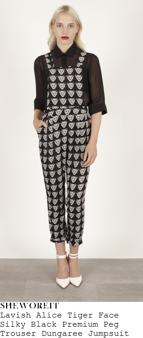 fearne-cotton-black-and-white-tiger-face-print-dungaree-jumpsuit