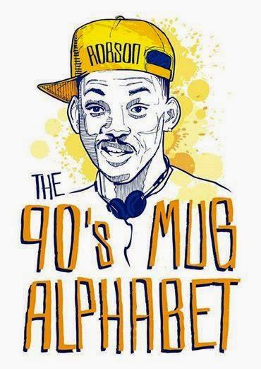 The 90's Mug Alphabet