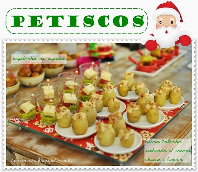 receitas de aperitivos de natal