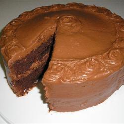 gâteau au chocolat  absolument délicieux,