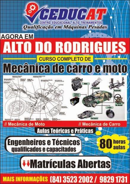 CEDUCAT AGORA COM MECÂNICA DE CARRO E MOTO