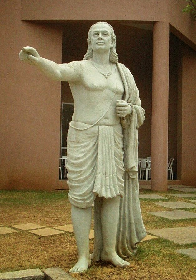 Statue of Aryabhata on the grounds of IUCAA Pune