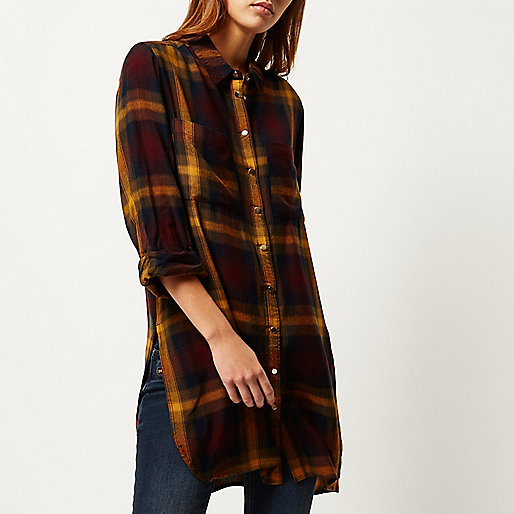 river island mustard check shirt, purple yellow check shirt,