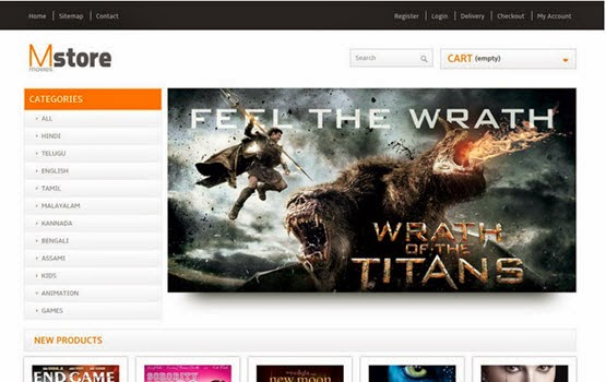 Movies Store web template