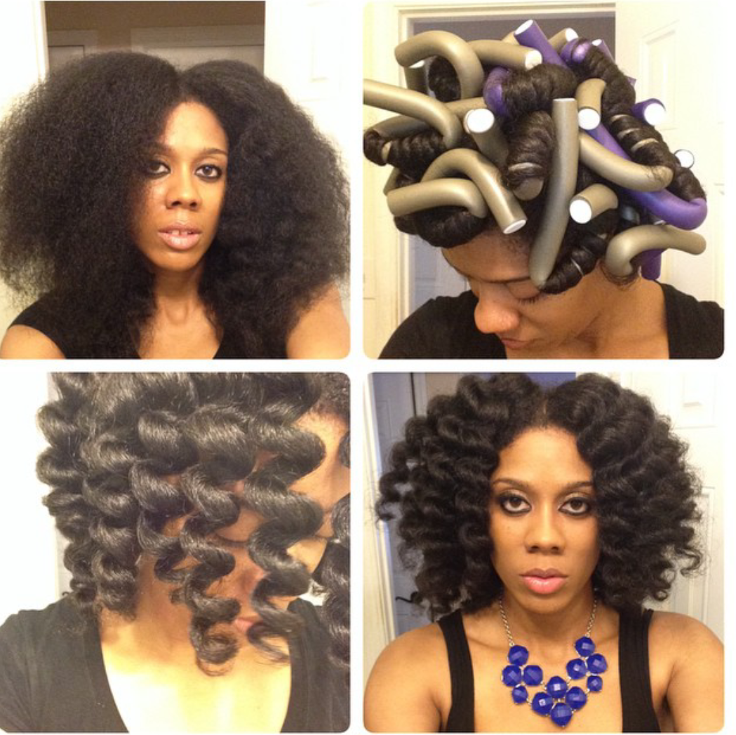 Cheating A Bantu Knot Out With Flexi Rods Curlynikki