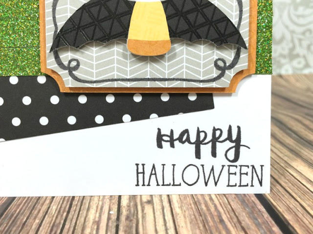 Cricut Candy Corn Bat card