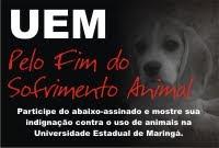Salve os animais da UEM