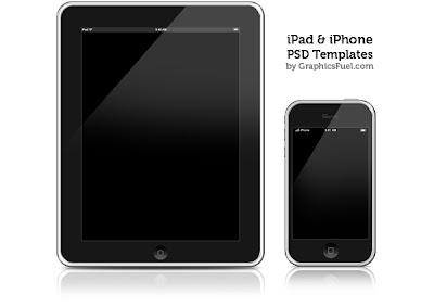 plantillas de ilustracion de iphone e ipad en PSD