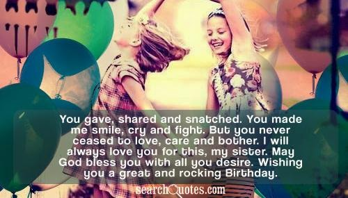 Birthday Wishes Sister