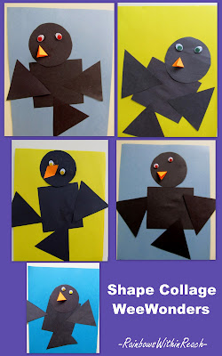 shapes in children's art, preschool shapes, fun shapes