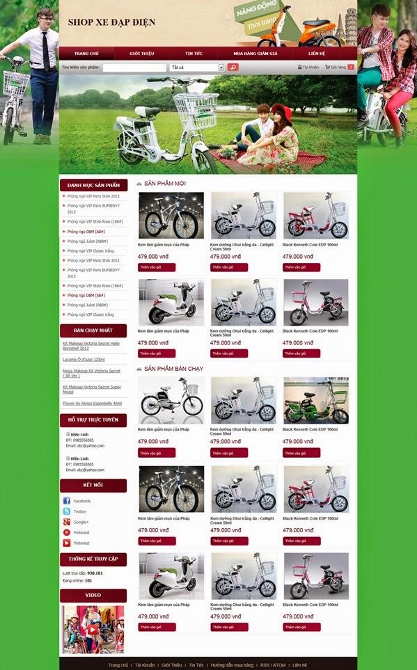 Thiết kế website bán hàng xe đạp điện