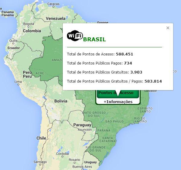 Pontos de Acesso WiFi Brasil
